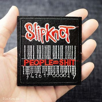 SLIPKNOT 7.0x7.5cm DIY Badge Patches Clothing Cute Cartoon Patch Fabric Sewing Embroidered Applique for Jacket Jeans Clothing