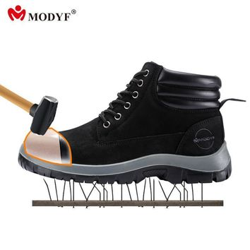 Modyf Mens fall winter Steel Toe Cap work Safety shoes outdoor welding protect boots f