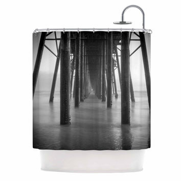 "Juan Paolo ""Vanishing Point"" Coastal Photography Shower Curtain"