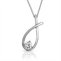 Bling Jewelry Single Tear Necklace