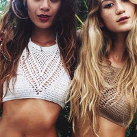 'The Valgerdr' Halter Crochet Bikini Top