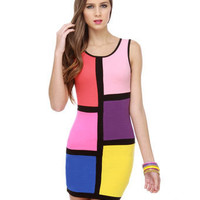 Sexy Color Block Dress - lulus.com