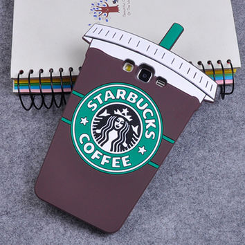3D Cartoon Starbuck Coffee Cup Soft Silicone Back Cover Case for Samsung Galaxy A3 A5 A7 J1 J3 J5 J7 Grand Prime S7 S6 Edge S5