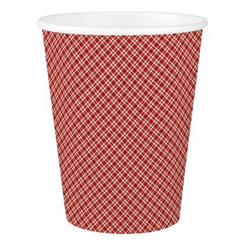 Christmas Plaid 21-PAPER CUPS