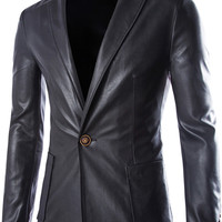 Solid One-Buttoned Keyhole Front Suit