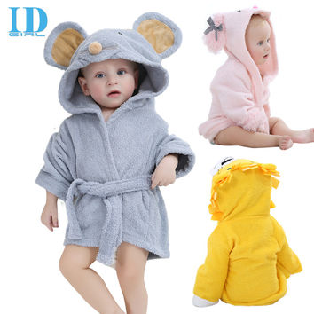 Fashion Designs Hooded Animal Modeling Baby Bathrobe Cartoon Baby Towel Character Kids Bath Robe Infant Beach Towels YE0001