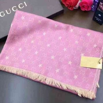 Day-First™ Gucci Woman Cashmere Scarf Shawl Silk Scarf