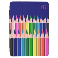 Cute Multicolored Pencils Design iPad Air Cover