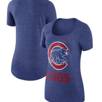Chicago Cubs Nike Women's Marled Boyfriend 1.7 T-Shirt