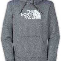 Gliks - The North Face Men's Surgent Hoodie in Heather Grey and White