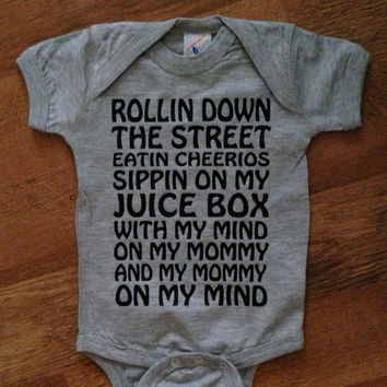 "Infant or Toddler Tee ""Cheerios and Juice Box"" (Inspired By Snoop Dogg's Gin & Juice)"