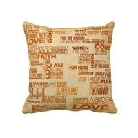 Pillow - 1 Corinthians 13 art print