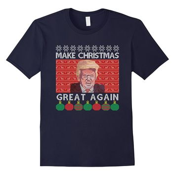 Make Christmas Great Again Shirt - Trump Ugly Christmas Tee