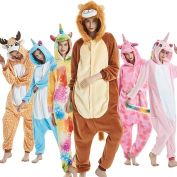 Onesuit Sleepwear Unicorn Kigurumi Pajamas Animal Cosplay Unisex Fashion Costume