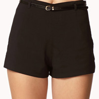 High-Waisted Shorts w/ Belt