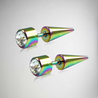 Multicolor Clear Stone Fake Taper Set