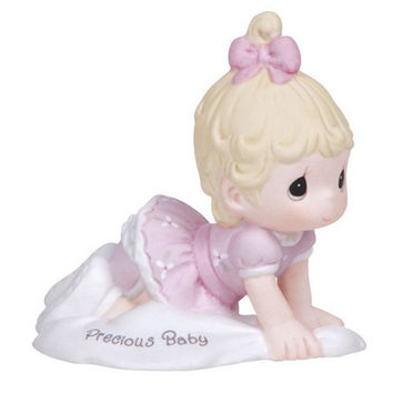 Precious Moments Growing In Grace Precious Baby Girl Blonde Figurine