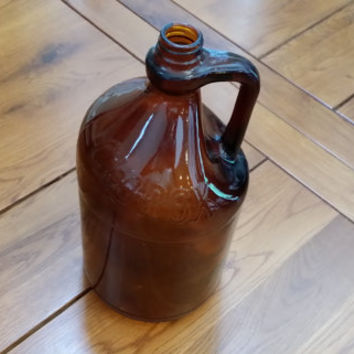 Vintage Brown Amber Glass Clorox Jug Bottle With Raised Letters Great Decor Vase