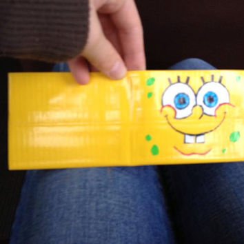 Sponge Bob Duct Tape Wallet by DuctTapeNMore on Etsy