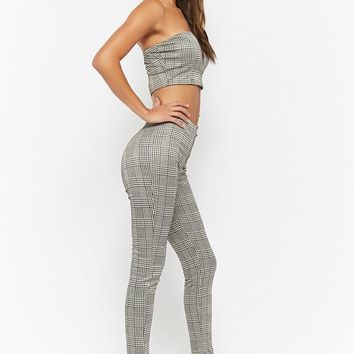 Glen Plaid Tube Top & Pants Set