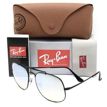 Kalete New Ray Ban Sunglasses RB 3561 002/9U Black 57?17?145 With Case