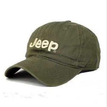 PEAP2Q JEEP Women Men Embroidery Leisure Sport Sunhat Baseball Cap Hat