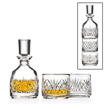 DUBLIN 8.5oz TRI DECANTER SET