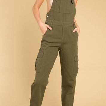 Overalls With Cargo Pocket Details (8IR1067H)