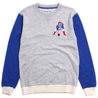 New England Patriots Team To Beat Crewneck Sweatshirt Heather Grey / Blue