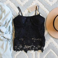 La Lune Lace Top in Black
