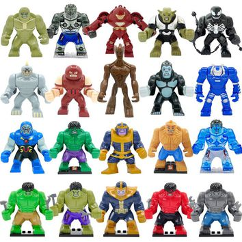 Super Hero Action High Marvel Avengers Figure Hulk Dogshank Darkseid Gorilla Grodd Ironman Mark 38 Igor Kids Toys Building Block