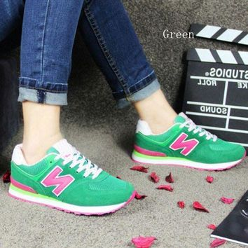CREYONV new balance running shoes leisure shoes gump sneakers lovers shoes n words green