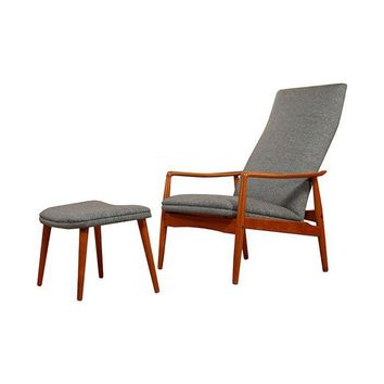 Pre-owned Danish Modern Teak Reclining Lounge Chair by Søren