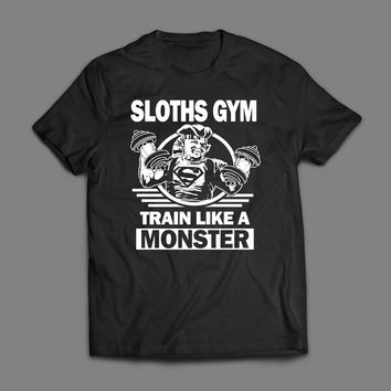 GOONIES SLOTH'S GYM, TRAIN LIKE A MONSTER GYM T-SHIRT