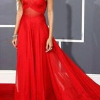 Red Halter Maxi Dress