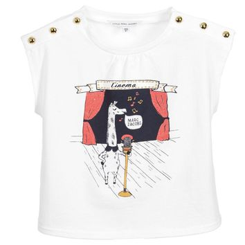 Little Marc Jacobs Baby Girls White 'Singing Giraffe' Top