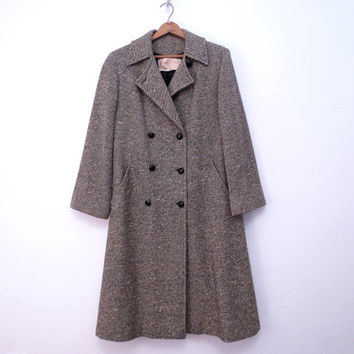 Pendleton Coat Wool Tweed Pendleton Coat Midi Length Made in USA size M