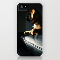 Hank staring down the darkness iPhone & iPod Case by Hank Puggle