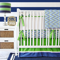 Preppy Boy Baby Bedding | Navy Crib Bedding Set
