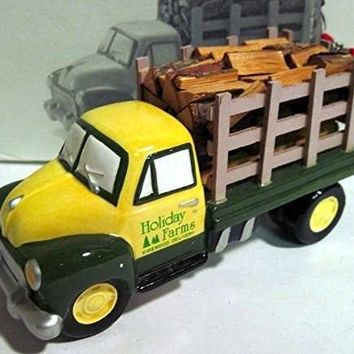 """Dept 56 Snow Village """"Firewood Delivery Pick-up Truck"""" Retired #54864 New"""