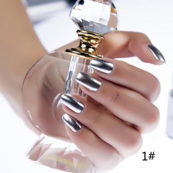 Hot Sales 6 ml Metallic Nail Polish Mirror Oil Gel Polish Gel Varnishes Metal Mirror Oil Party Nail Polish
