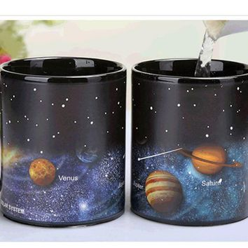 Heat Sensitive Solar System Changing Mug