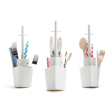 Kitchen Helper Hot Sale Hot Deal On Sale Cute Easy Tools Home Stylish Creative Storage Box Kitchen Tools Rack Spoon [6034339905]