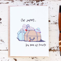 Our Journey - Anniversary I Love You Card for Him, Boyfriend, Husband, Wife, Girlfriend