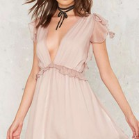 Nasty Gal Dragonfly Ruffle Dress