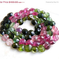 51% OFF Tourmaline Briolette Gemstone Faceted Coin 6mm 33 beads 1/2 Strand Wholesale