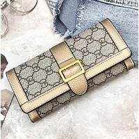 New fashion more letter print leather wallet purse women handbag