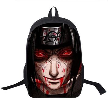 Naruto Sasauke ninja Teens Boys Girls Anime  School Bag Students Back to School Book Bag Laptop Bag Sasuke Itachi Uchiha Printing Backpack AT_81_8