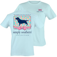 Simply Southern Preppy Puppy Bow Bright T-Shirt