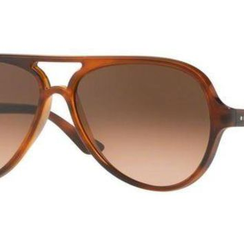 Kalete RAY-BAN CATS 5000 SUNGLASSES 59 MM | STRIPPED HAVANA / GRADIENT | RB4125 820/A5